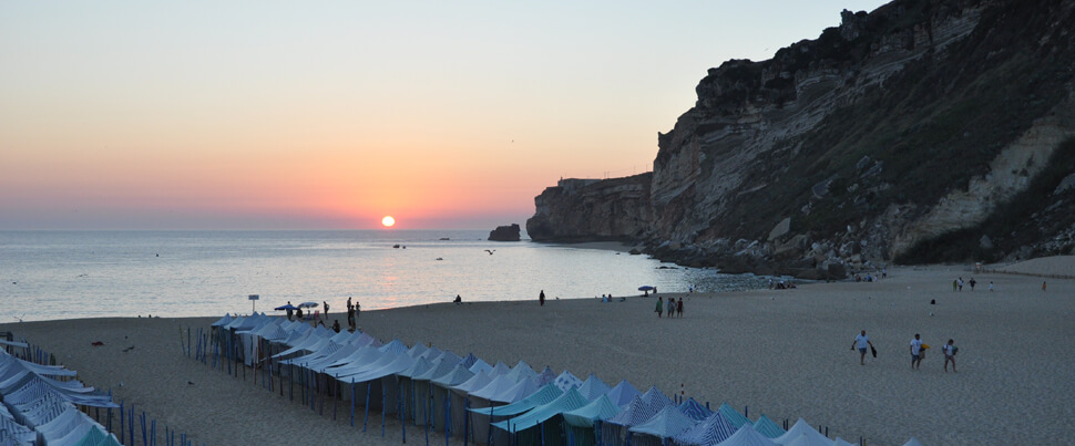 Nazare-solnedgång-i-havet-sunset-in-the-sea
