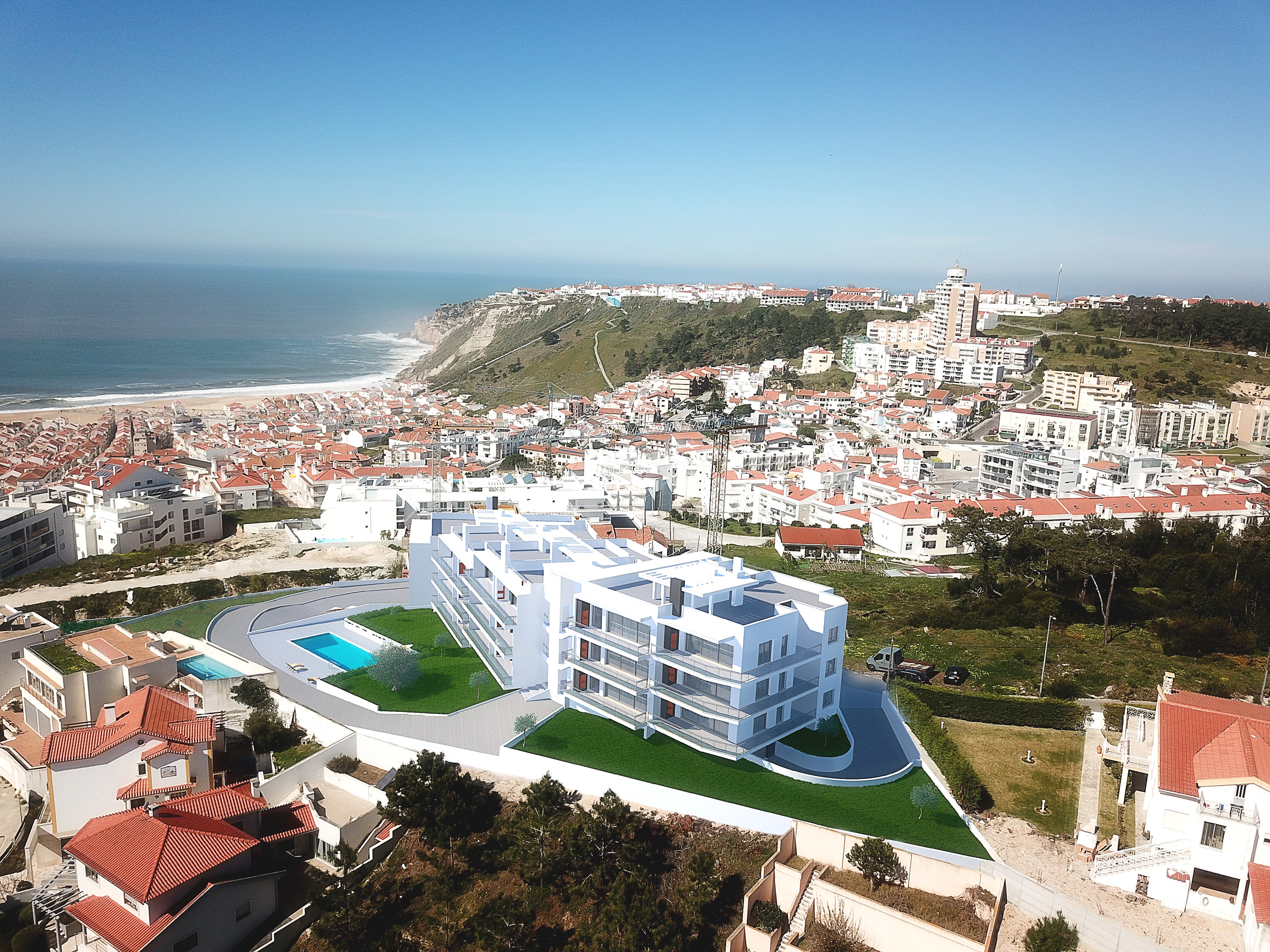 Apts under constr wide sea view, Nazaré