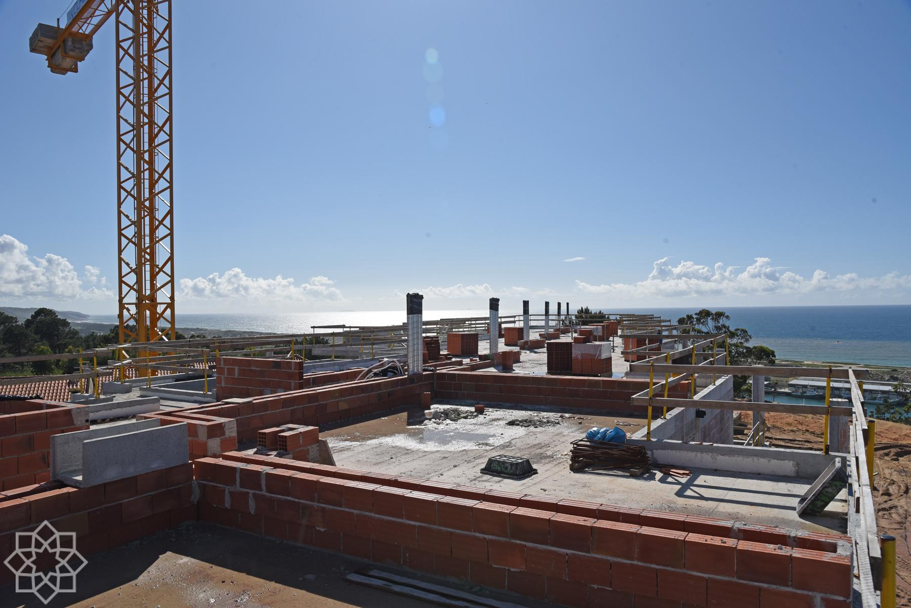 Private roof top terraces for the apartments on the 2nd floor