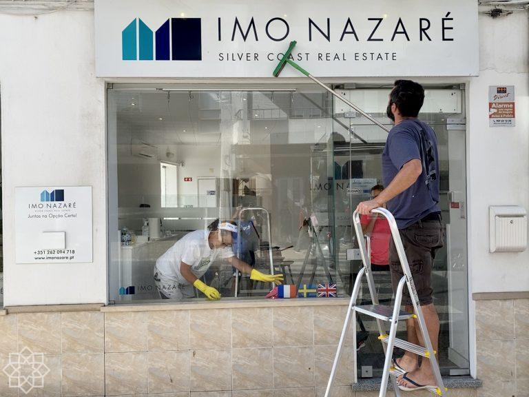 Mäklarkontoret i Nazaré öppet!