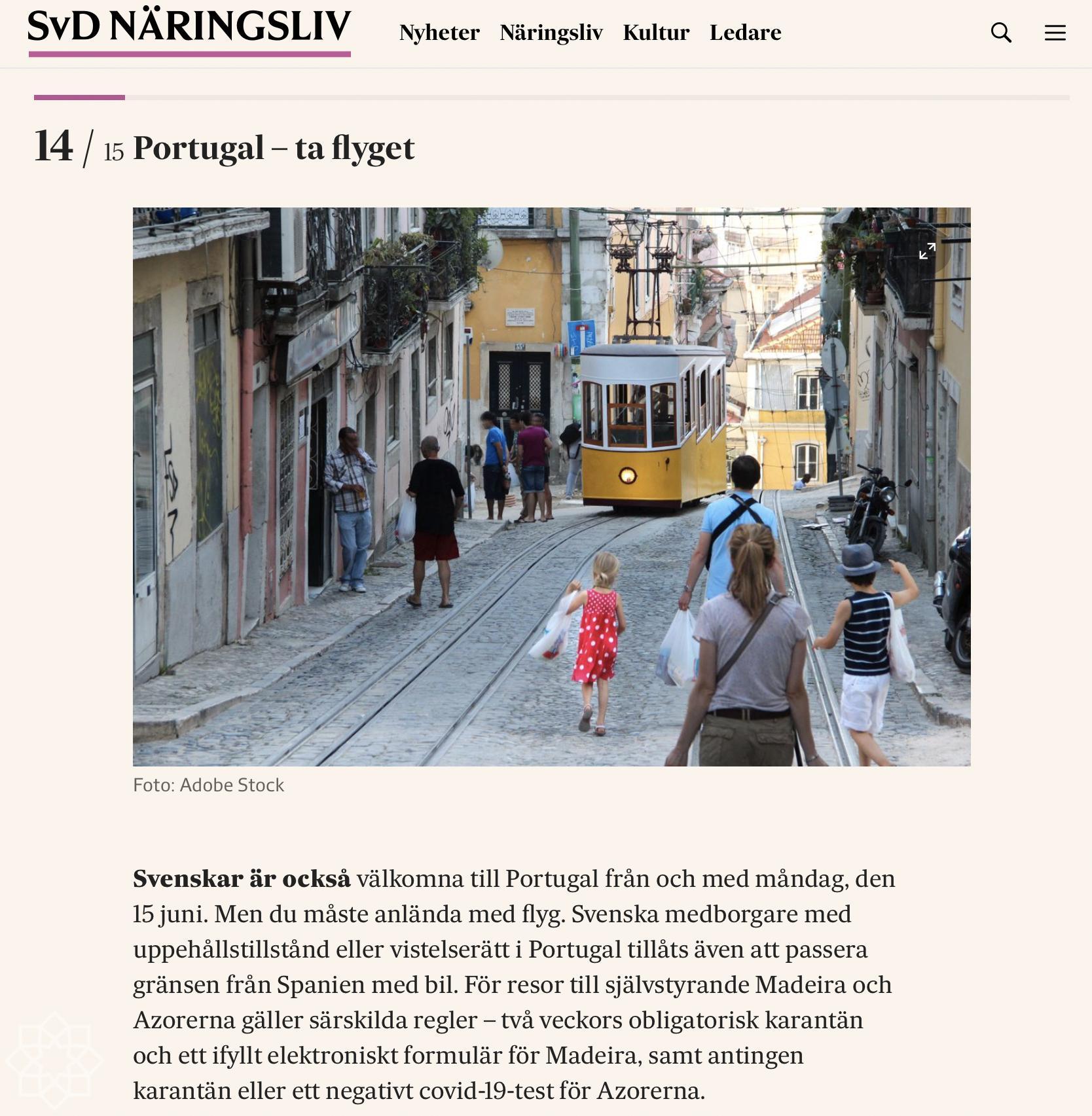 15 juni är alla svenska välkomna till Portugal