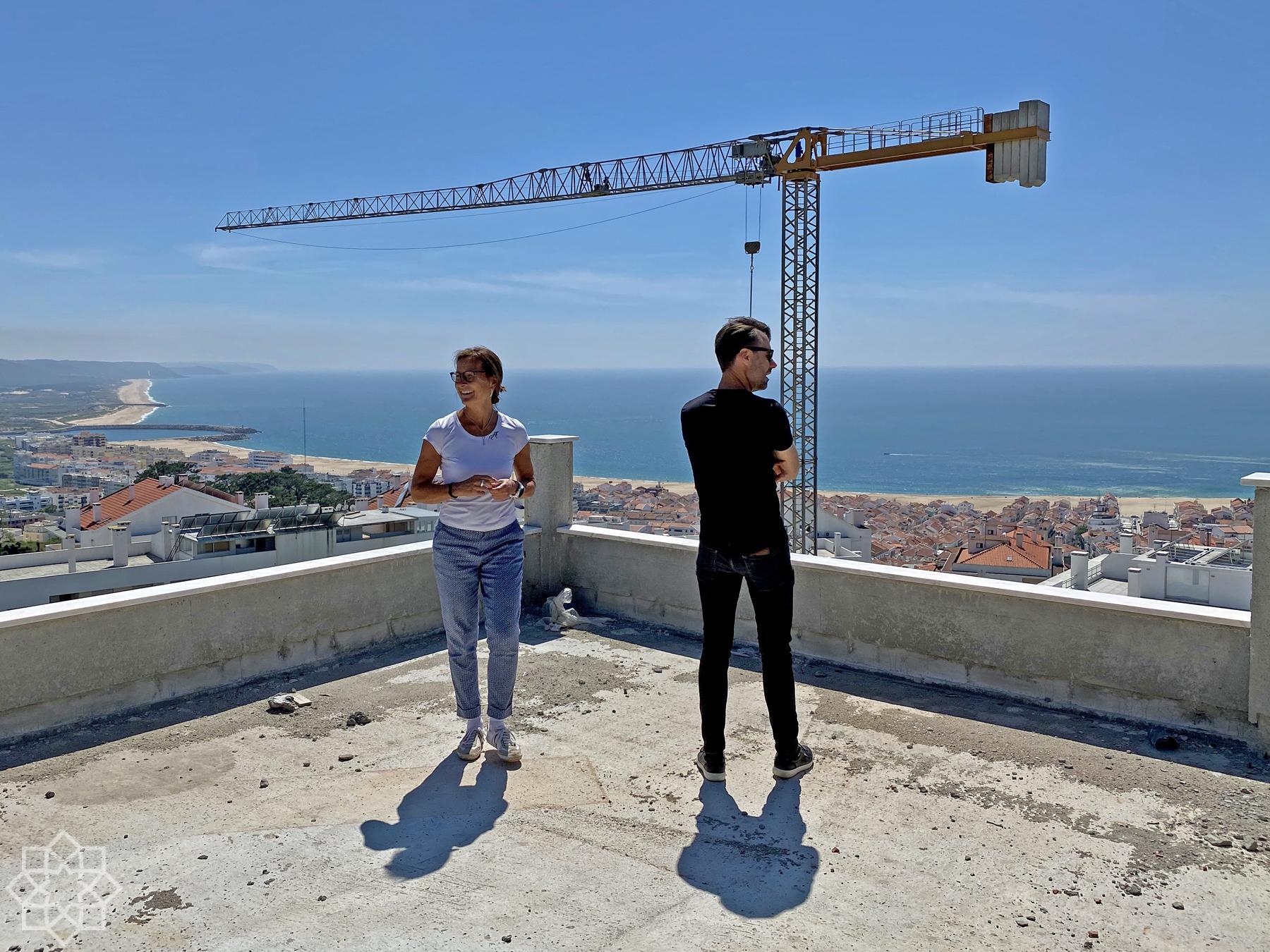 New construction by Gameiro in Nazaré
