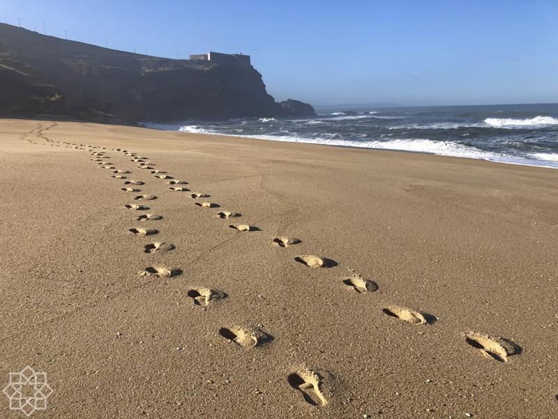 steg i sanden Praia do Norte