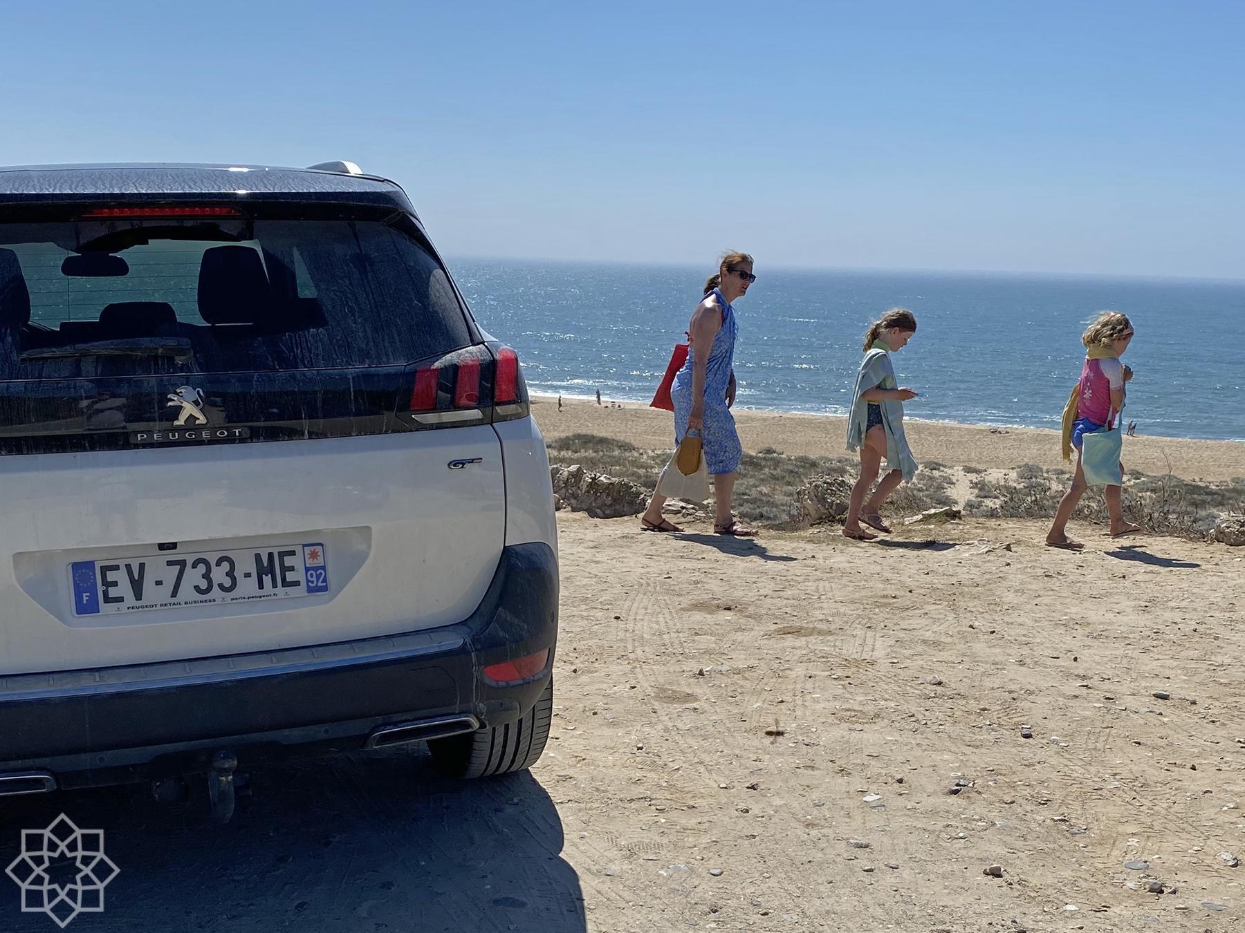 Franskt strandliv på Praia do Norte