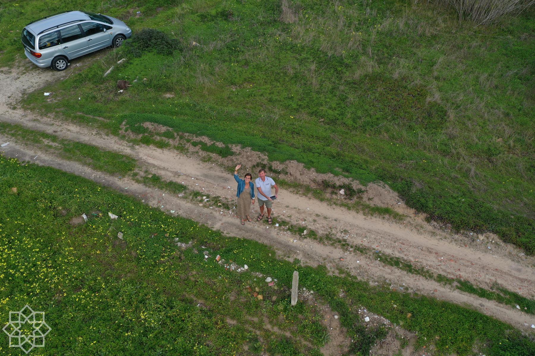 Provkörning av drönare i Nazaré