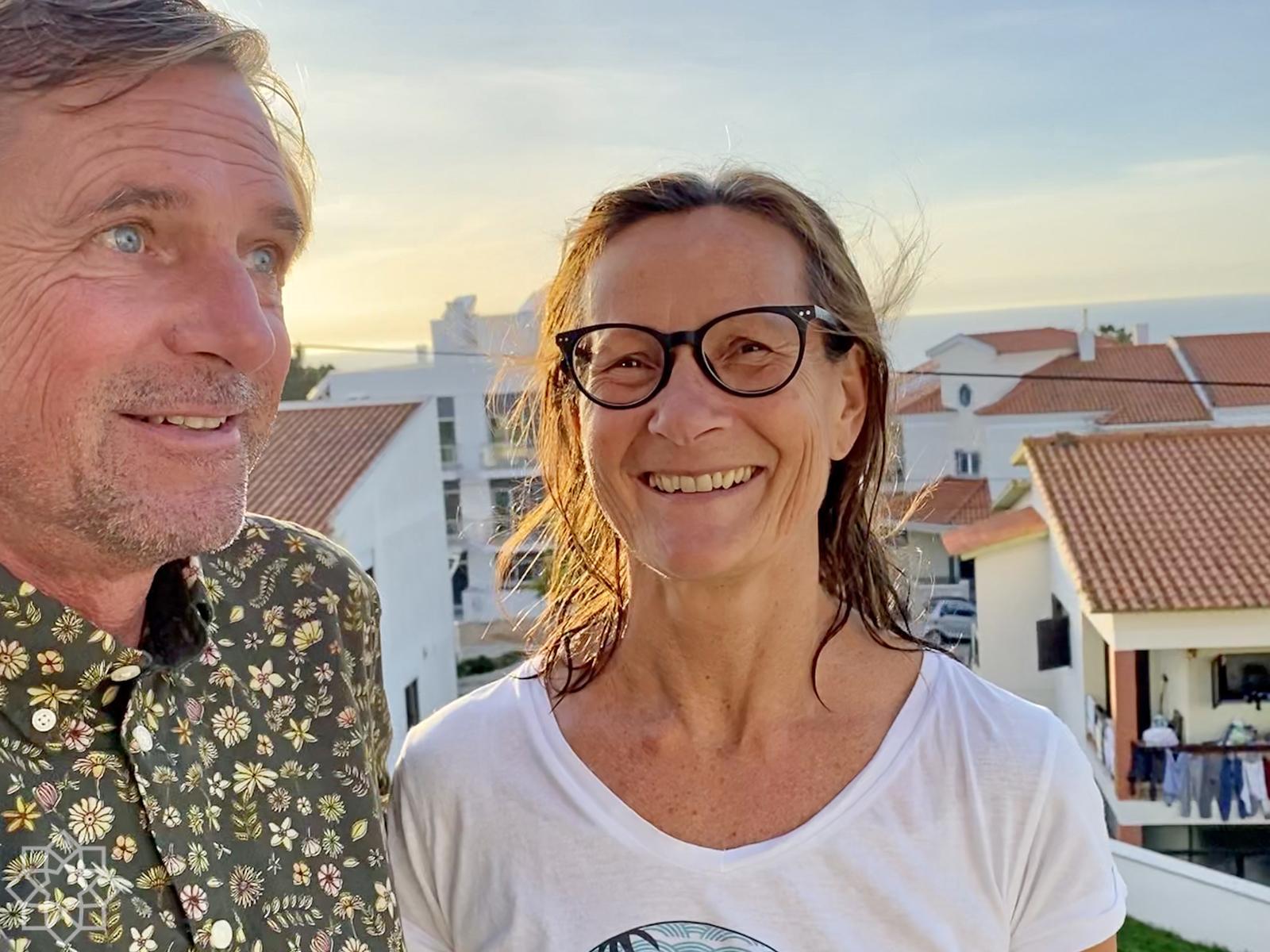 Niklas och Kari Forsén Nazaré